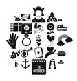list icons set simple style vector image
