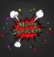 merry christmas pop art vector image vector image