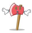 money eye axe character cartoon style vector image