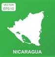 nicaragua map icon business concept nicaragua vector image vector image