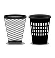 office style empty bins isolated on white vector image vector image