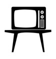 old vintage television vector image