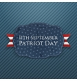 Patriot Day Emblem with Ribbon vector image vector image