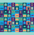 pattern of fashionable mens wear background vector image vector image