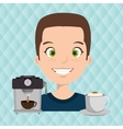 people and coffee icon design vector image vector image