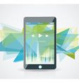 perfectly detailed modern smart phone vector image vector image