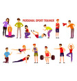 personal sport trainer orthogonal icons vector image