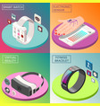 portable electronics isometric design concept vector image vector image