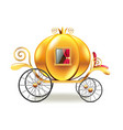 princess carriage isolated on white vector image vector image