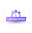 promo limited offer sale price tag last limited vector image