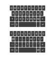 qwerty keyboard smartphone vector image vector image
