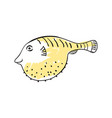 sea fish hand drawn icon vector image vector image