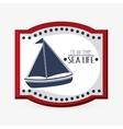 Sea lifestyle icon nautical design Flat vector image vector image