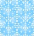 Seamless Pattern with Beautiful Snowflakes vector image vector image