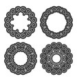 Set of Ethnic Circle Elements vector image