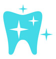strong tooth logo icon flat style vector image vector image