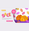 thanksgiving sale autumn sale banner vector image
