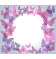 Transparent butterflies frame vector image vector image