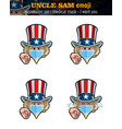 uncle sam emoji - expression set - surgical mask vector image