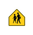 usa traffic road sign school advance vector image