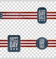 veterans day badges set vector image
