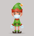 virus protected christmas elf boy santa claus vector image vector image