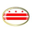 washington dc flag oval button vector image vector image