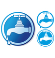 water tap symbol vector image vector image