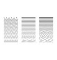 wavy curved and zigzag collection set of vector image vector image