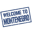 welcome to montenegro stamp vector image vector image