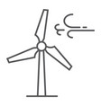 wind turbine thin line icon ecology and energy vector image vector image