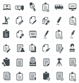 write and news icon set vector image vector image