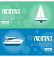 Yachting Website Template Set Horizontal banners vector image vector image