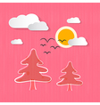 Abstract Nature Pink Background vector image