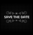 Save the date invitation header vector image