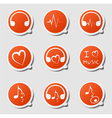 music theme icon vector image