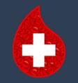 blood cells logo vector image