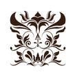 crest heraldic victorian vintage decoration vector image