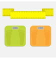 weight scale with word fat cool measuring tape vector image