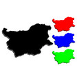 3d map of bulgaria vector image vector image
