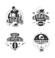 American football tailgate party vintage labels vector image