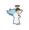 angel cartoon fairy wing heaven icon vector image