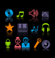 audio and music icons vector image vector image