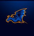 bat mascot logo vector image