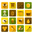 Bee Honey Icons Flat vector image vector image