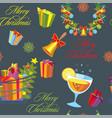 christmas seamless pattern 10 vector image