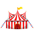 Circus tent in red and white striped vector image vector image