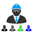 clever engineer flat icon vector image vector image