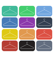 clothes hanger icon set3 vector image