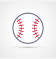 colored baseball ball symbol vector image vector image